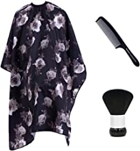 IYOYI Hair Cutting Capes for Adults Set :Waterproof Hair Cutting Cape,Barber Brush Neck Duster,Black Professional Comb