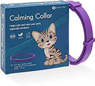 KOOLTAIL Calming Collar for Cats, Adjustable Relieve Reduce Anxiety Pheromone Your Pet Lasting Natural Calm Collarup to 15