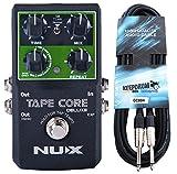 NUX Tape Core Deluxe Gitarren-Effektgerät Delay Pedal + keepdrum Gitarrenkabel 6m