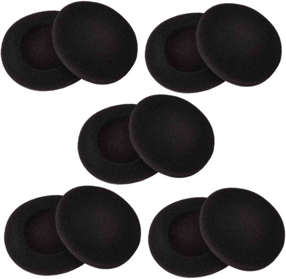Sunmns 2 Inch Foam Pad EarPad Ear Cover Compatible with Sony Sennheiser Philips Headphone, 5 Pairs, Black: Home Audio & Theater