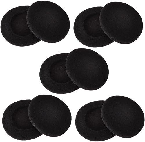 Sunmns 2 Inch Foam Pad EarPad Ear Cover for Sony Sennheiser Philips Headphone, 5 Pairs, Black