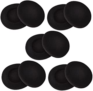 Sunmns 2 Inch Foam Pad EarPad Ear Cover Compatible with Sony Sennheiser Philips Headphone, 5 Pairs, Black