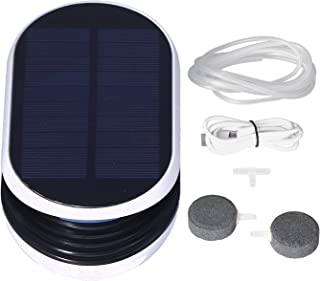 Pompa Powietrza do Akwarium, Pompa Powietrza USB Solar z 3 Trybami Pracy Przenośna i Przyjazna dla środowiska do Stawu Bas...