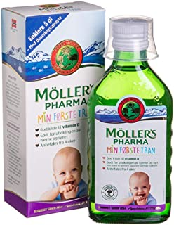 Moller's Omega 3 Norwegian Cod-Liver Oil My First Fish Oil for Pregnant Women and Babies 250 Ml