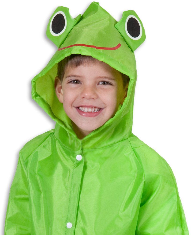 Cloudnine Children's Froggy Raincoat, for Ages 5-12 One Size fits All