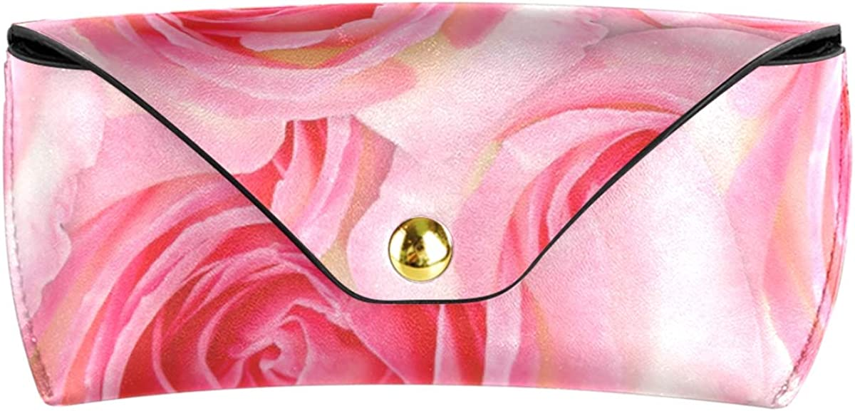 Lovely Rose Floral Multiuse Wallet PU Leather Goggles Bag Sunglasses Case Eyeglasses Pouch Portable