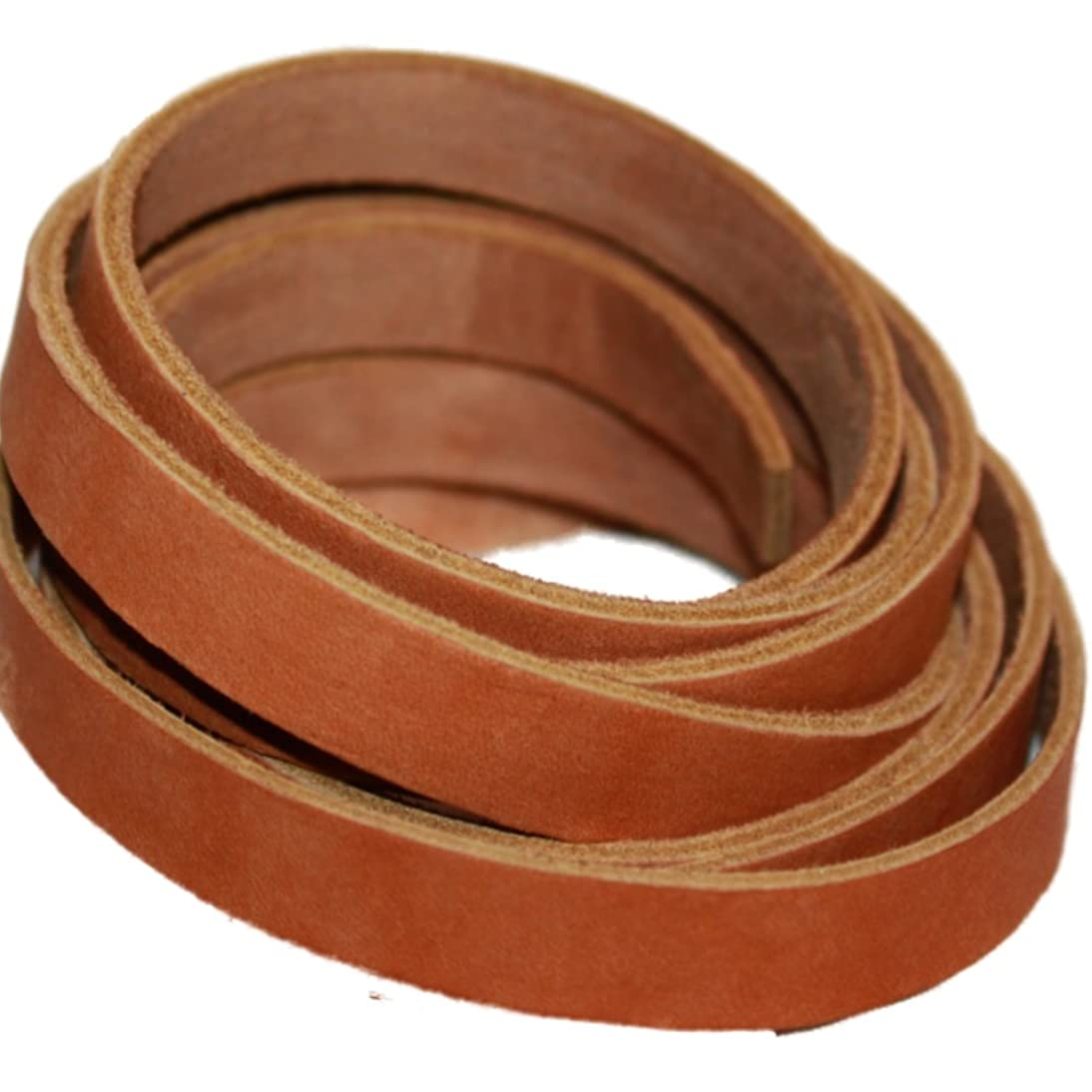 TOFL Leather Strap Tan 1/2 Inch Wide and 72 Inches Long.