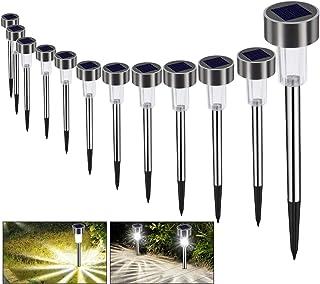 Lampe Solaire Jardin Exterieure au Sol Bawoo 12pcs Lampes Jardin Etanche Lampe Sans Fil LED Décoration Eclairage Solaire E...
