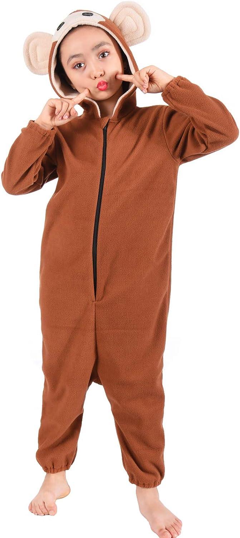 5-14year Shark Monkey Cheetah Panda Unicorn Onesie Pajamas Costume for Kids Girls and Boys
