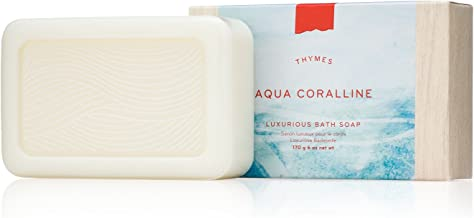 Thymes - Aqua Coralline Luxurious Bath Soap - Naturally Conditioning Bar Soap with Refreshing Beach Scent - 6 ounce