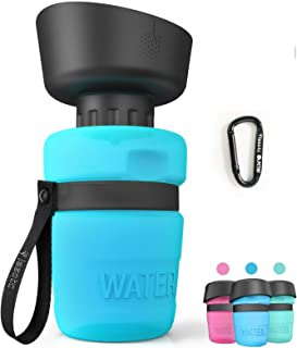 lesotc Pet Water Bottle for Dogs, Dog Water Bottle Foldable, Dog Travel Water Bottle, Dog Water Dispenser, Lightweight & C...