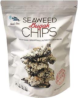 C-weed Korean Crunchy & Crispy Roasted Seaweed Snacks Family Size 2 Pack (Seaweed Bugak Chips)