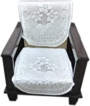 Topaz Furnishings Polycotton Unique Designer Sofa Covers for Single Seat, Set of 2, Cream Colour