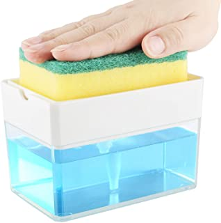 Soap Dispenser for Kitchen + Sponge Holder 2-in-1 -...