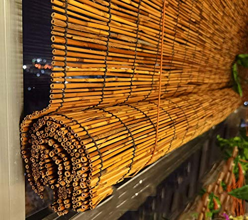 Persianas de bambú, persianas de caña natural, persianas enrollables romanas, cortinas decorativas retro para salón, persianas enrollables para sombrillas, cortinas di(Size:180cm*250cm(70.8*98.4in))