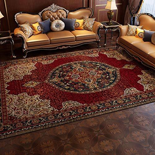 QKDSDM Alfombras Home Alfombra De Diseño Rojo Persa Turco alfombras de habitacion...