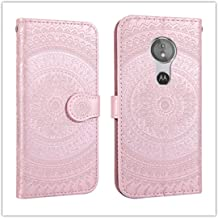 For Sony Xperia L2 Pressed Printing Pattern Horizontal Flip PU Leather Case with Holder & Card Slots & Wallet && Lanyard New (Gray) HuangFF (Color : Pink)