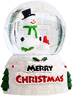 Christmas Glowing Crystal Glass Ball Christmas Children Gift With 320ml Water Adornos navideños Новогоднее украшение