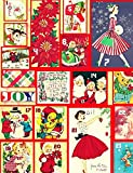 Holiday Gift Blank Notebook Journal With Vintage Christmas Advent Calendar Design (Christmas Holiday Composition Books)