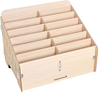 TINTON LIFE Wooden Cell Phones Storage Box for School Classroom Office Meeting Room¨12 Compartments