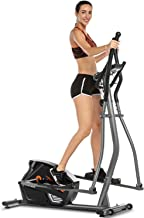 ANCHEER Elliptical Exercise Machine for Home Use, Magnetic & Smooth & Quiet, Compact Eliptical Cross Trainer Machine for Indoor Workout & Fitness with 10-Level Resistance, Monitor