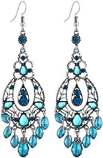 1 Paire Femmes Bijoux Fashion Opal Turquoise Soirée Dangle Boucles d/'Oreilles Pendantes Cadeau