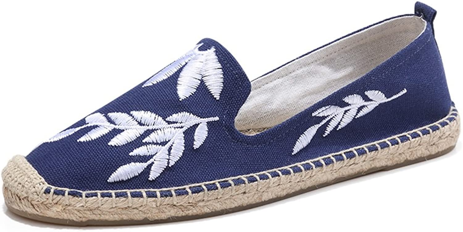 HUAN Canvas shoes 2018 New Low-Top Linen Soles Woman Breathable Girl Fashion Flat Loafers Espadrilles