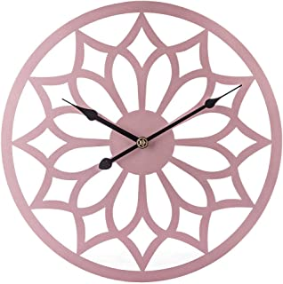 Delicate Large Wall Clock, 40CM/16Inch XL Big Silent Flower Shape Wall Clocks for Living Room, Kitchen, Bedrooms,Size:40C...