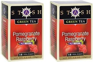 Stash Pomegranate Raspberry Green Tea with Matcha -- 18 Tea Bags (Pack of 2)