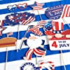 4th of July Decorations,67pcs Patriotic Party Decorations Set include Hanging Paper Fans,4th of July Banner,Latex Balloons Set,Foil Balloons and Photo Booth Props for Independence Day Memorial Day #3