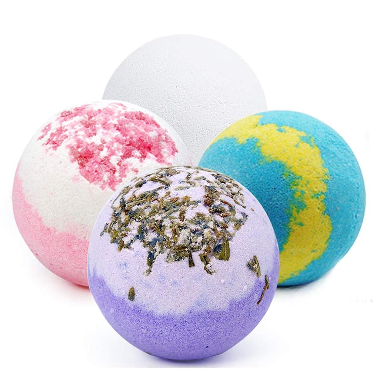 バスボム 入浴剤 炭酸 バスボール 6つの香り 手作り 入浴料 うるおいプラス お風呂用 入浴剤 ギフトセット4枚 贈り物 プレゼント最適