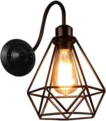 STOEX Lampe murale vintage industrielle Edison lumière E27, rétro appliques murales éclairage intérieur LED chambre salon cuisine noir
