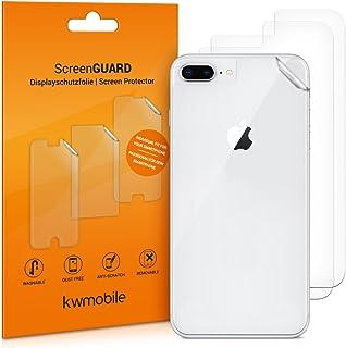 kwmobile 3x Pellicola protettiva posteriore compatibile con Apple iPhone 7 Plus / 8 Plus- Protezione retro smartphone - Qu...