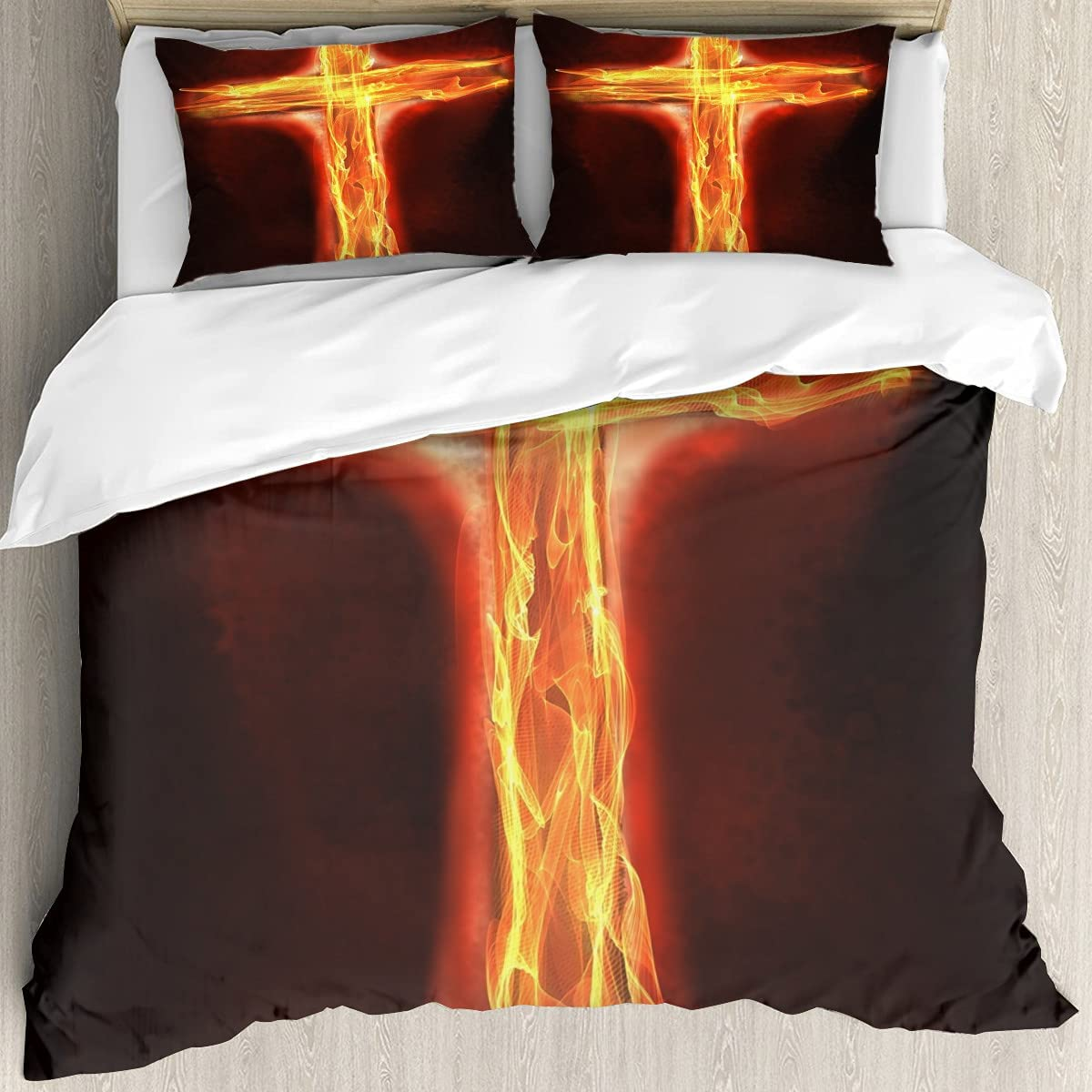 The Cross Philadelphia Mall 3D Printing Memphis Mall Cover Twin Breathable and Soft Set Bedding