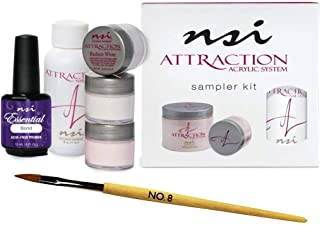 Acrylic Sampler Kit ATTRACTION + Nail Brush First Touch #8