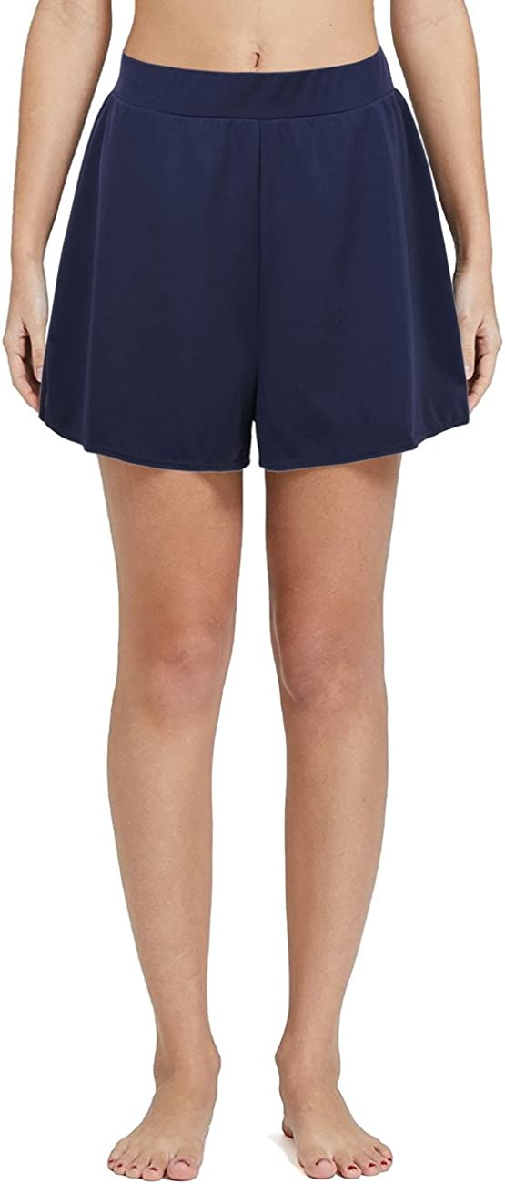 Nonwe Women's Solid A-Line Tomboy Gifts Shorts Loose Swim Popular shop is the lowest price challenge