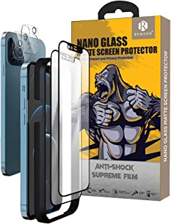 Remson Nano Matte Screen Protector, 4 in 1 Matte Screen Protector with Lens protector For Apple Iphone 12 Pro