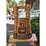 XoticBrands Tiki Gods of Fire and Water Statue Sculpture Fountain