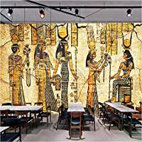写真の壁紙3D立体空間カスタム大規模な壁紙の壁紙 ノスタルジックなエジプトの壁の装飾リビングルームの寝室の壁紙の壁の壁画の壁紙テレビのソファの背景家の装飾壁画-400X280cm