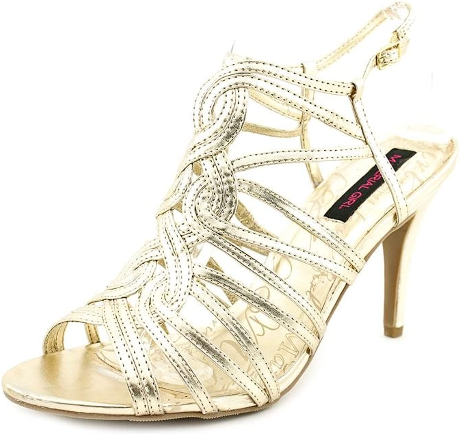 Material Girl Leah Womens Size 8 gold Dress Sandals shoes
