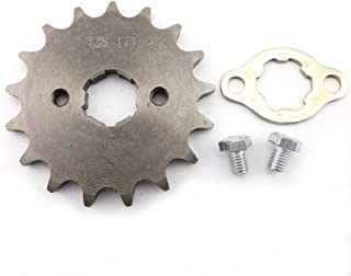 XLJOY 428 17 Tooth 20mm Front Engine Sprocket for 50cc 70cc 90cc 110cc 125cc 140cc 150cc 160cc SSR Apollo Dirt Bike ATV Quad