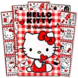 Hello Kitty Valentines Day Classroom Exchange Gift | 32 Valentines Cute & Adoring Cartoon Cards | 8 Fun Design | Kids DIY DayCare Homeschooling Sunday School