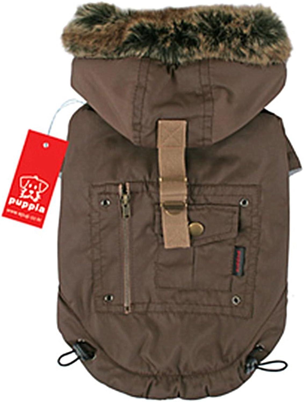 Puppia Authentic Coup D'etat Coat, 4XLarge, Brown