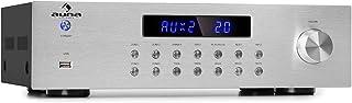 comprar comparacion Auna AV2-CD850BT - Amplificador estéreo hi-fi, 4 Zonas, 8 x 50 W de Potencia Media, Bluetooth, Puerto USB, 3 entradas de l...