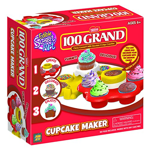 AMAV Cupcake Maker Kit - DIY Toy Make & Decorate Your Own Cupcakes - Easy & Safe to Use-No Oven Required - Perfect Group Activity & Best for Young...