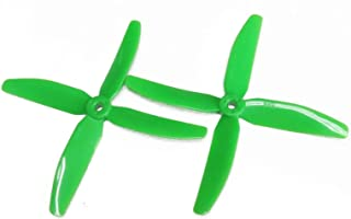 powerday 5040 4ブレード プロペラCW CCW 適用RCミニレーシングドローンQAV210 QAV-X (4本) (緑)