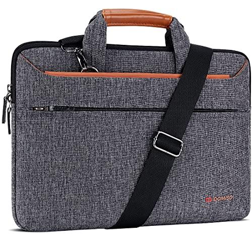 DOMISO 13-13.3 Zoll Laptop Tasche Hülle Notebooktasche Wasserdicht Aktentasche Tragetasche Schultertasche für 13
