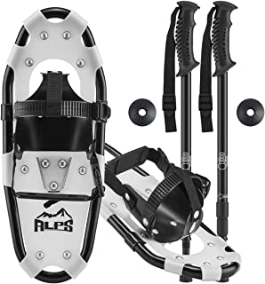 ALPS Light Weight Kids Snowshoes, Boys & Girls +Trekking Poles,Carrying Tote Bag 14