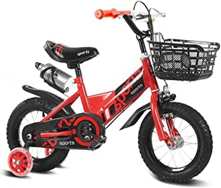 """TWTD-TYK Kid's Bike,Children's Bike, Children Training Bicycle Adjustable Toddler Bike for 2-8 Years Old in Size 12"""" 14"""" 16"""" 18""""with Water Bottle"""