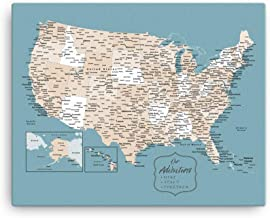 Mission Hammocks United States Push Pin Map | US Travel Pin Board | USA Travel Map | Custom Travel Tracker | RV Gift | RV Décor
